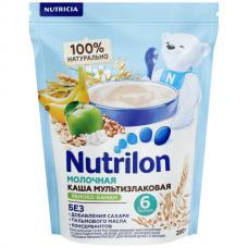 """Nutrilon Каша молочная """"Рисовая с бананом и яблоком"""" с 6 мес 200 гр"""
