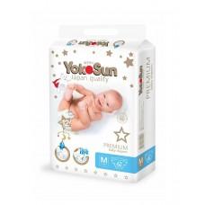 YokoSun Premium Подгузники M (5-10 кг) 62 шт