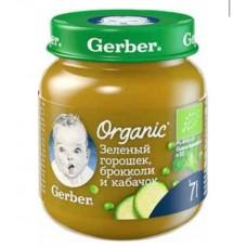 """Gerber Пюре детское Organic """"Горох, брокколи, кабачок"""" с 7 мес 125 гр"""