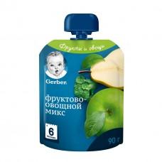 """Gerber Пюре детское """"Фруктово-овощной микс"""" с 6 мес 90 гр"""