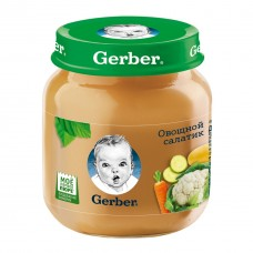 """Gerber Пюре детское """"Овощной салат"""" с 5 мес 130 гр"""