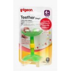 Pigeon Прорезыватель Step-1 Зеленый цветок с 4 мес