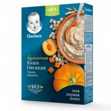 """Gerber Каша безмолочная """"Овсяная с тыквой и абрикосом"""" с 5 мес 180 гр"""